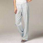 Gingham Check Pyjama Bottoms - Soft Blue