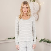 Stripe Rib Pyjama Top