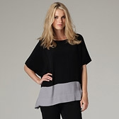 Rectangular Colourblock Blouse - Black