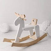 Wooden Rocking Reindeer