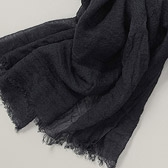 Simple Fine Weave Scarf - Stormy Grey