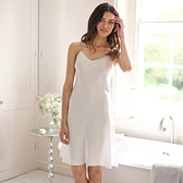 Silk Short Nightie - Alabaster