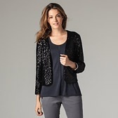 Sequin Jacket - Black