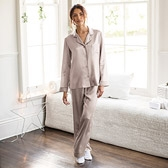 Silk Pyjamas - Ash Rose