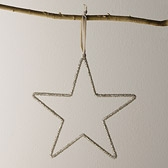 Beaded Star Decoration - Large