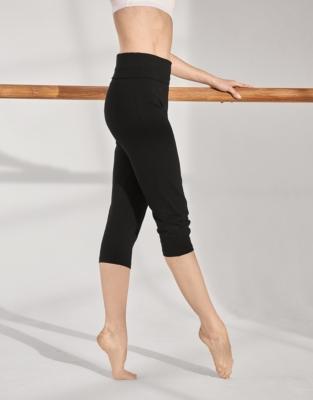 Yoga Crop Roll Top Pants