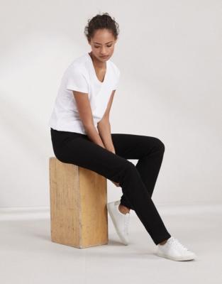 Straight Leg Roll Top Pants