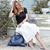 Large Zip Tote Bag - Navy