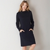 Zip Back Roll Neck Dress