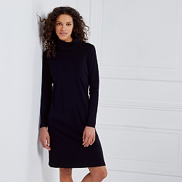 Zip Back Roll-Neck Dress