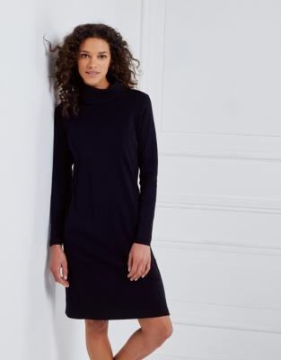 Zip Back Roll-Neck Dress