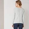 Zip Back Textured Sweater