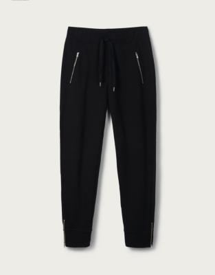 Zip Detail Jersey Joggers