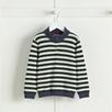 Striped Half Zip Sweater