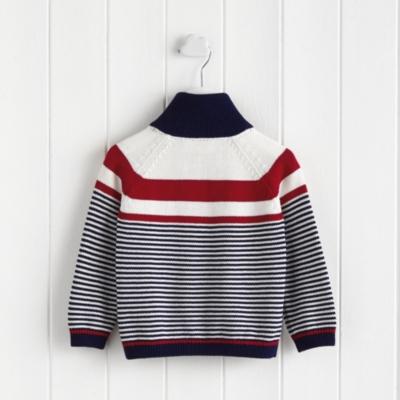 Stripe Half Zip Sweater
