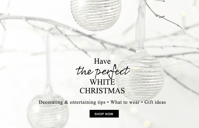 Have the perfect white Christmas