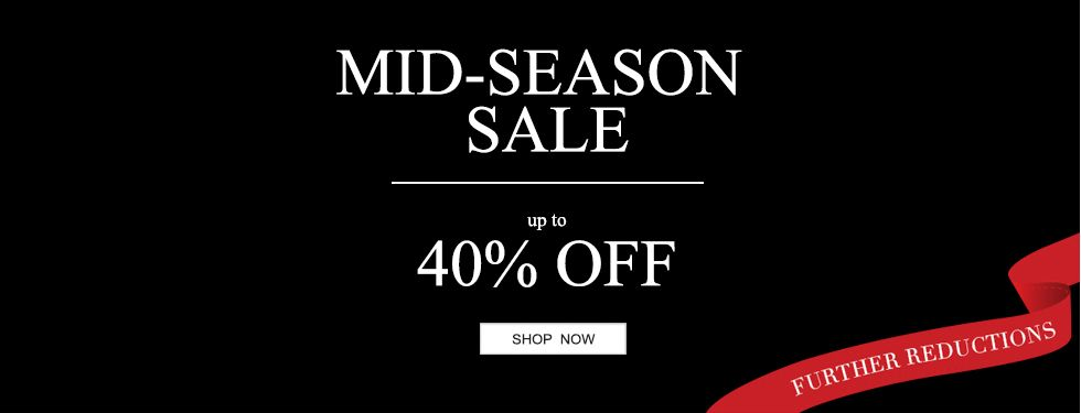 Mid Season Sale: up to 40% off