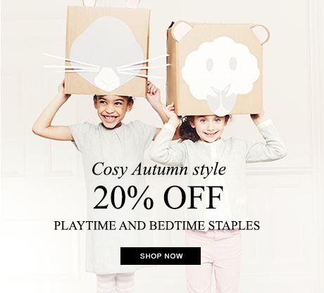 20% off playtime and bedtime staples