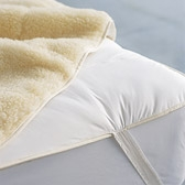 Buy Reversible Quilted Cotton/Merino Fleece Topper from The White Company