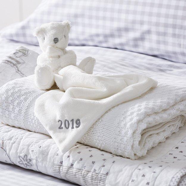2019 Dated Bear Comforter Newborn Toys The White