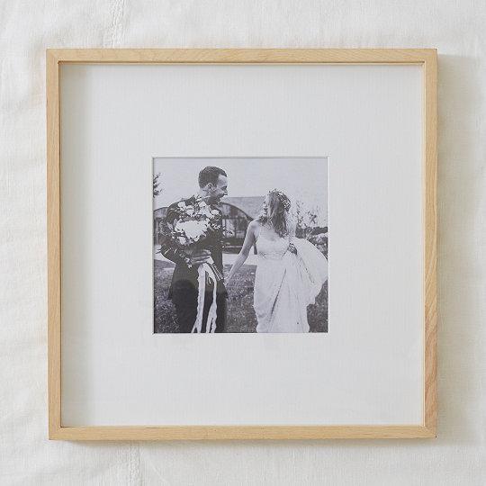 Fine Ash Wood Recessed Photo Frame 8x8 The White Company Uk