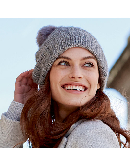 c09649ec9c249 Alpaca Faux Fur Bobble Hat