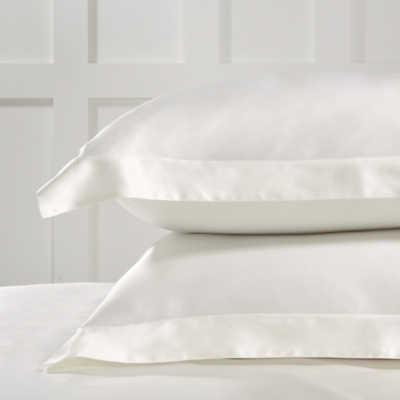 Audley Pure Silk Oxford Pillowcase with Border - Single