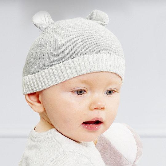 80a26666156 Bear Ears Knitted Beanie