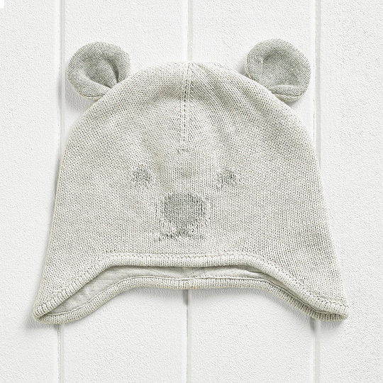 Bear Face Knitted Hat  84dc3b25622