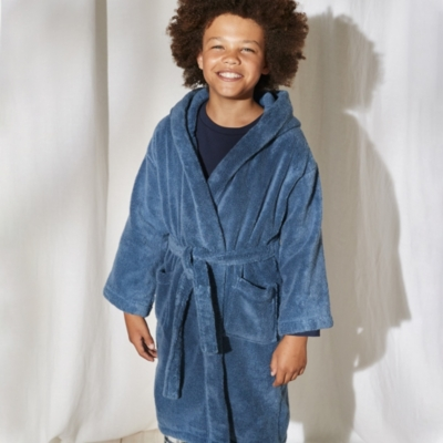 Hydrocotton Hooded Robe (5-12yrs) - Moonlight Blue