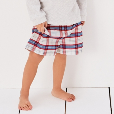 Boating Check Pyjama Shorts (1-12yrs)