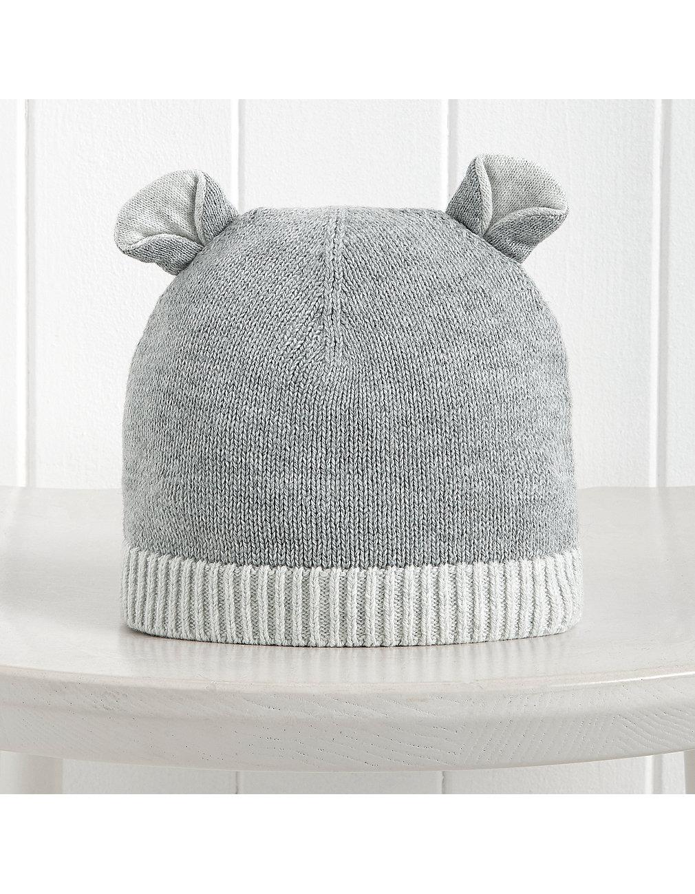 f0014471e Bear Ears Knitted Beanie