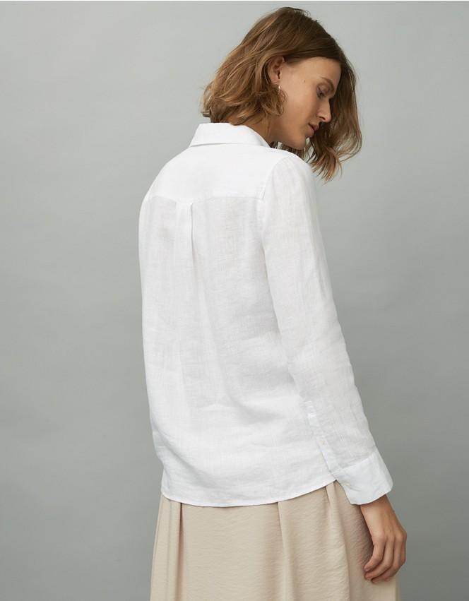 Bib Front Linen Shirt