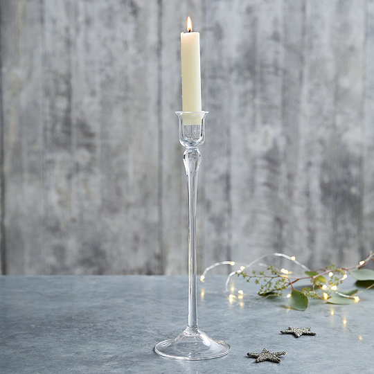 Gl Tall Dinner Candle Holder