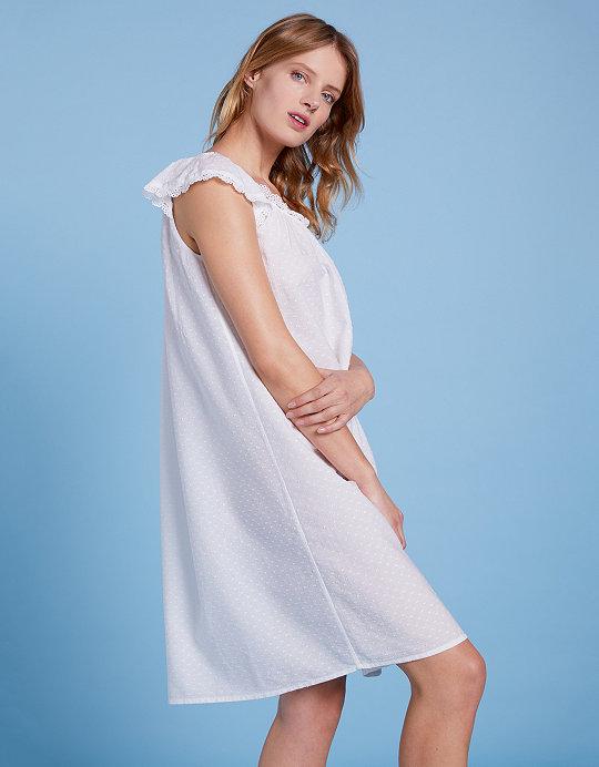 5443c76977 Cotton Broderie Trim Nightie
