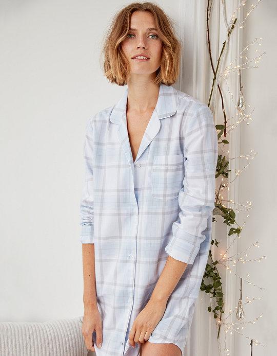 86b4425317 Brushed Cotton Check Nightshirt