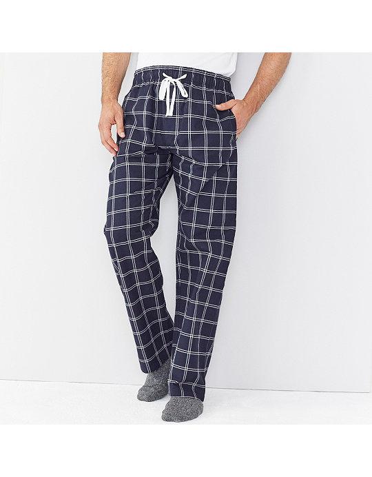 Men s Navy Check Pyjama Bottoms  e342171a0