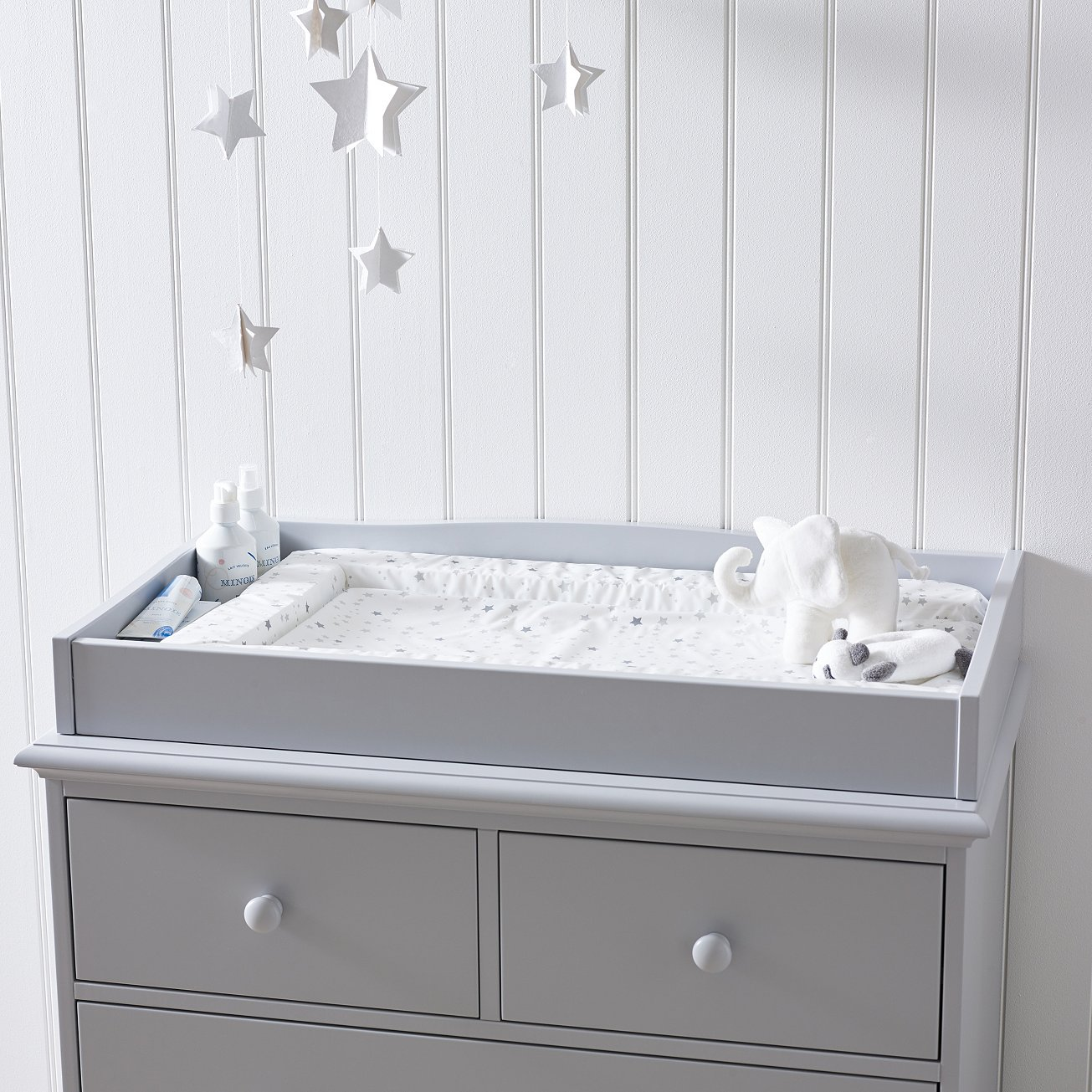 There is no need to change your baby on the dining table anymore. The Changing Top is specially designed to fit on The White Company's Classic Chest of Drawers to provide you with a secure place to attend to your baby. - £99.00