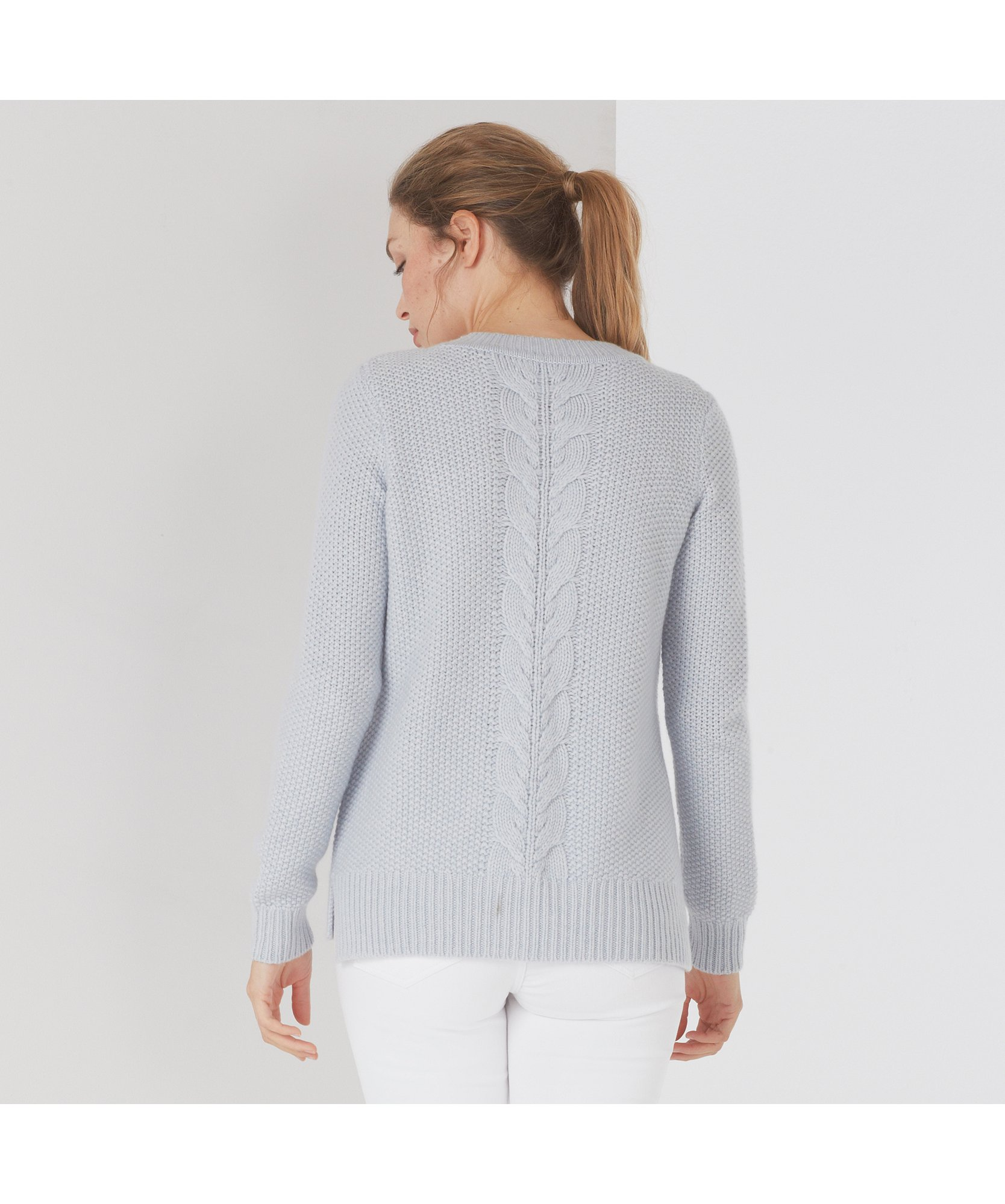 Cashmere Cable Detailed Sweater