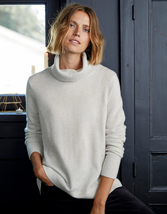 e7f8aab3c Added to bag. Checkout. Continue shopping. The White Company · Sale ·  Clothing Sale  Cashmere Roll-Neck Jumper