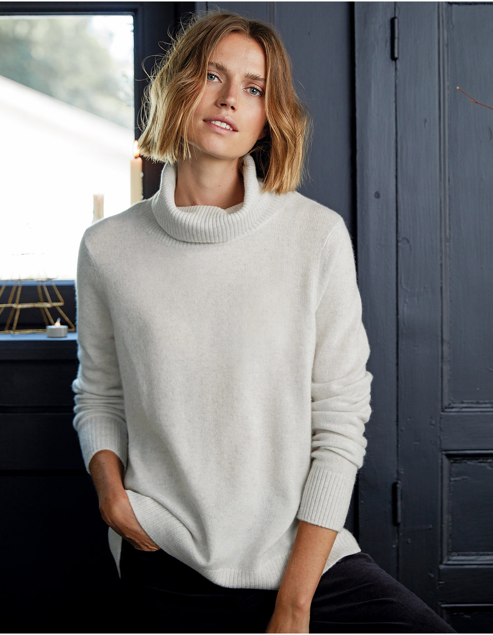531772e28 Added to bag. Checkout. Continue shopping. The White Company · Clothing ·  Sweaters   Cardigans  Cashmere Roll Neck Sweater