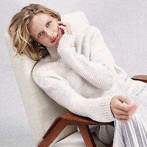 Chunky Garter-Stitch Sweater with Alpaca