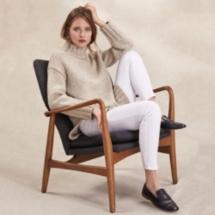 Chunky Longline Sweater With Alpaca
