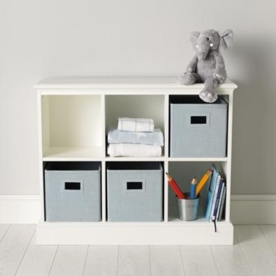 Clic 6 Cube Storage Unit The White