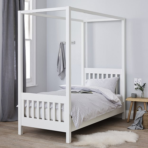 Canopy Bed.Classic Single Four Poster Bed Beds The White Company Uk