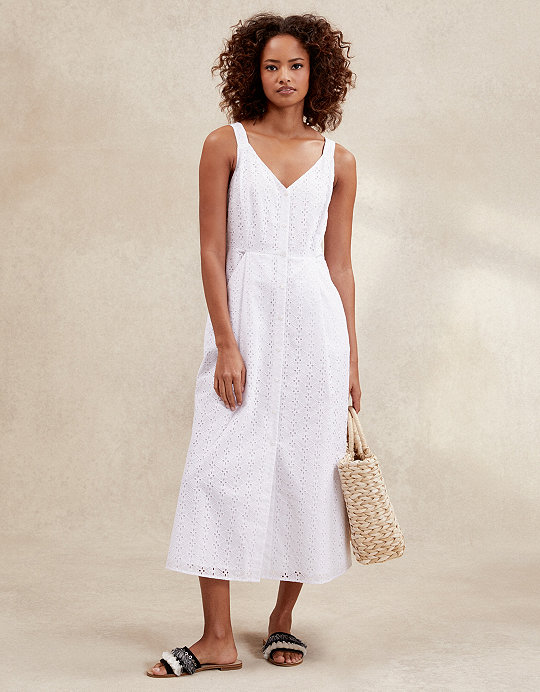 271487741c99 Added to bag. Checkout. Continue shopping. The White Company · Sale ·  Clothing Sale; Cotton Broderie Fit & Flare Dress