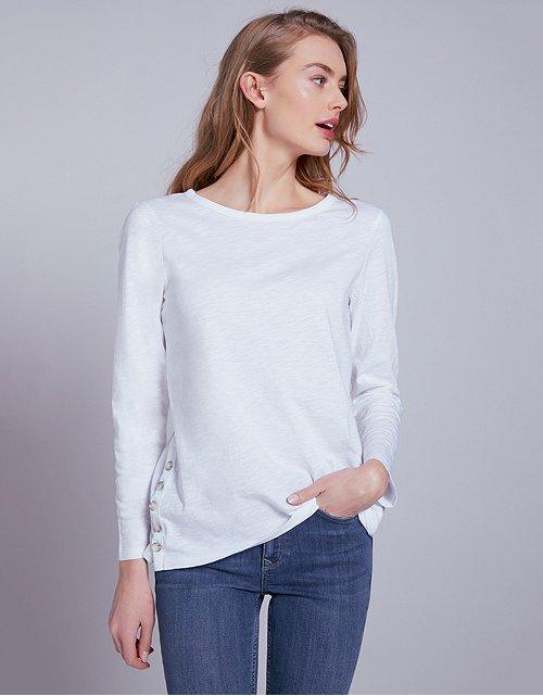 664e9eab0a8 Cotton Button Side T-Shirt