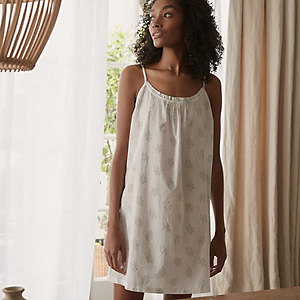 Cotton Faded Floral Nightgown