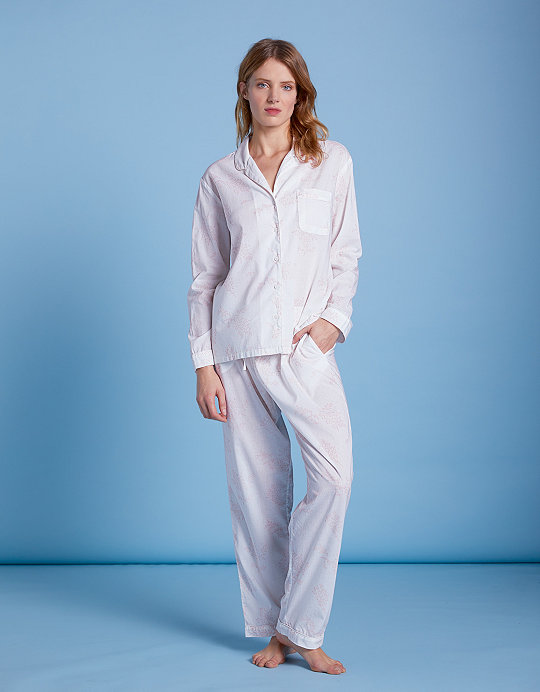 1ac04b515d8 Cotton Leaf Print Pyjama Set | Pyjamas | The White Company UK