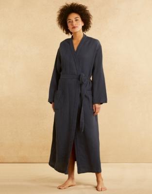 Cotton Micro Waffle Robe Nightwear Robes Sale The White Company Uk